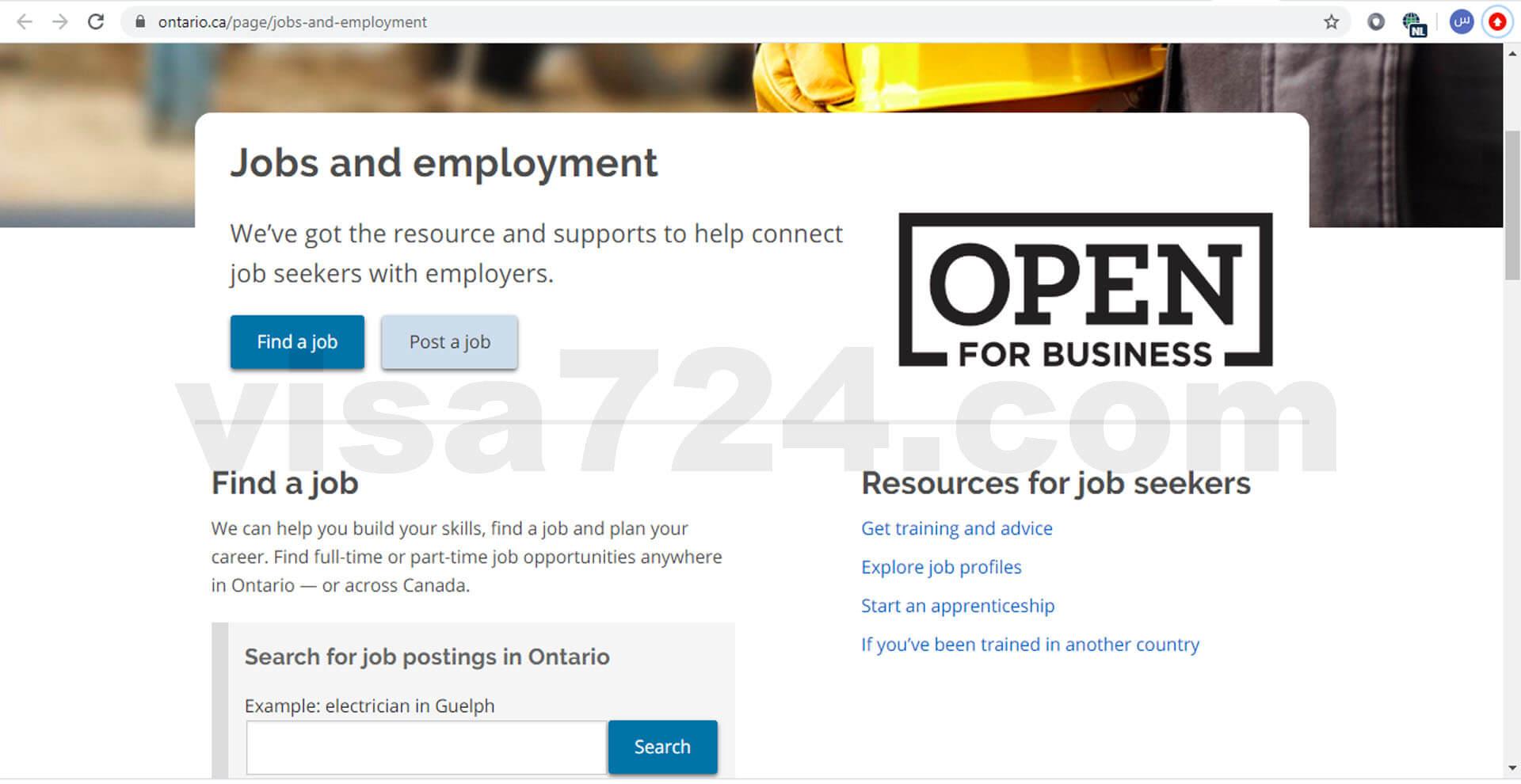 پیدا کردن شغل در استانهای کانادا