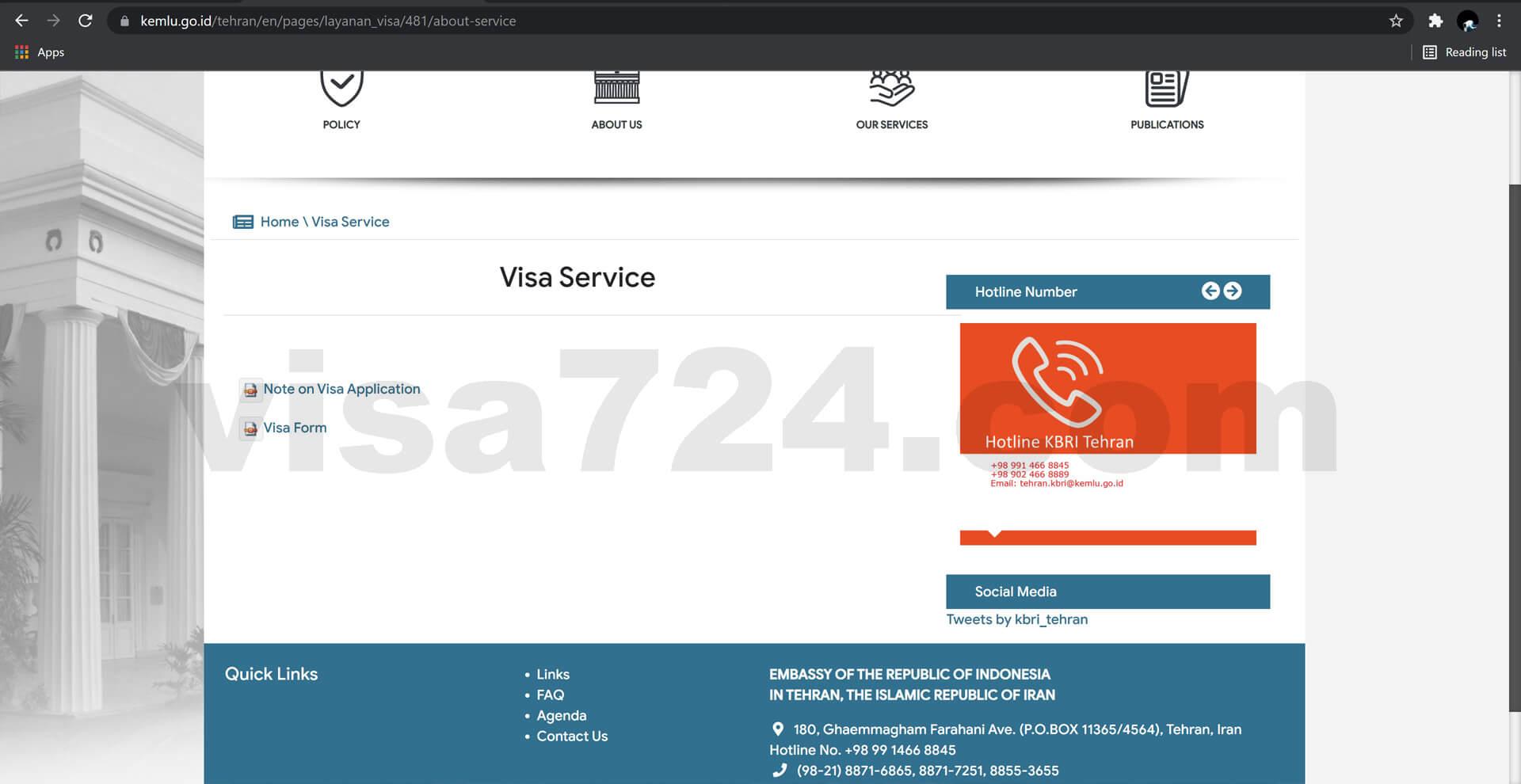 ثبت درخواست ویزای اندونزی