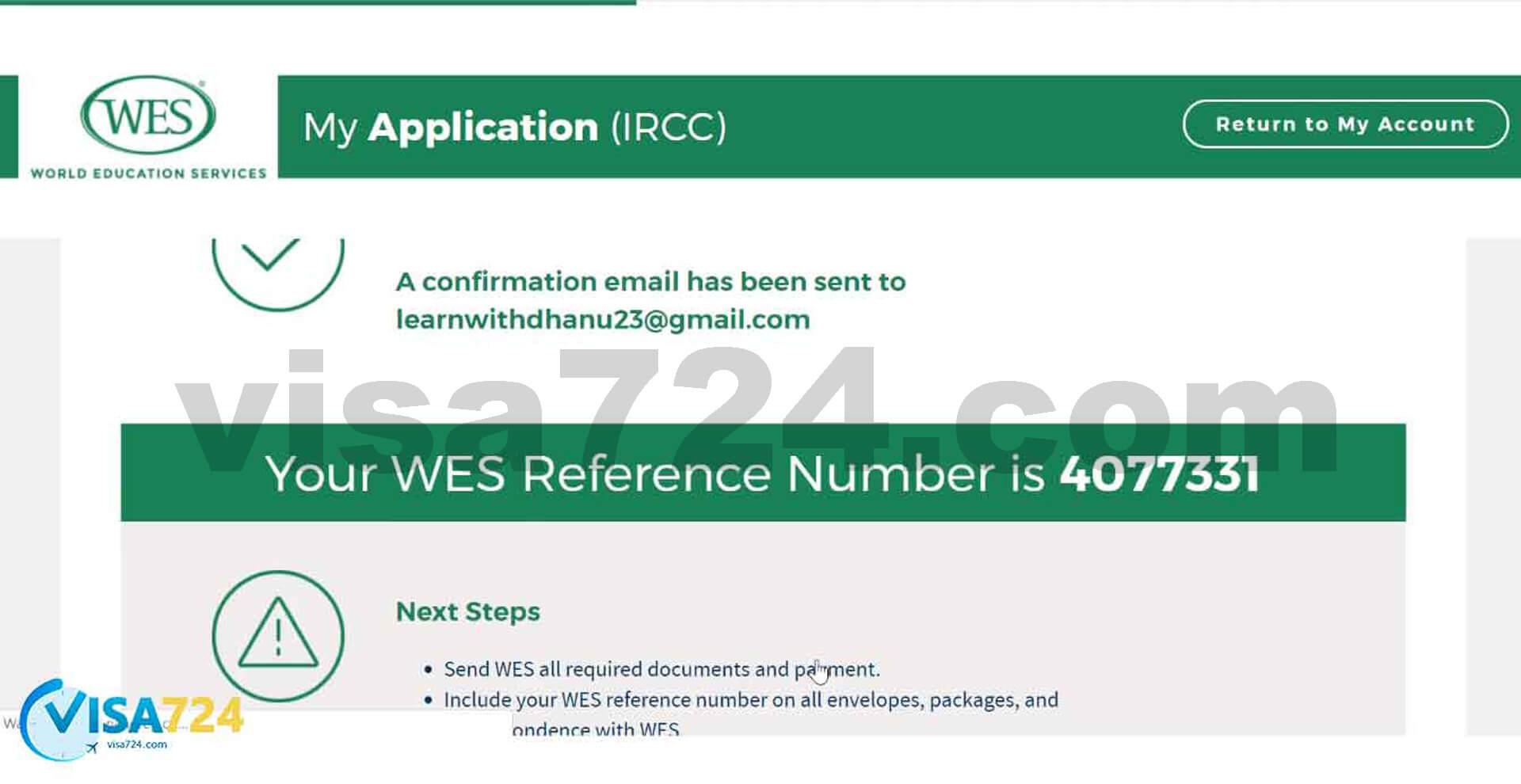 تصویر بیستم از مراحل آموزش نحوه دریافت تأییدیه از WES کانادا