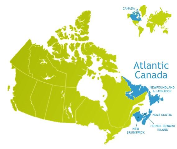 اخذ اقامت کانادا در استانهای آتلانتیک