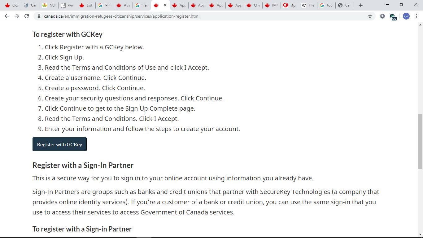 حساب کاربری ویزای توریستی کانادا