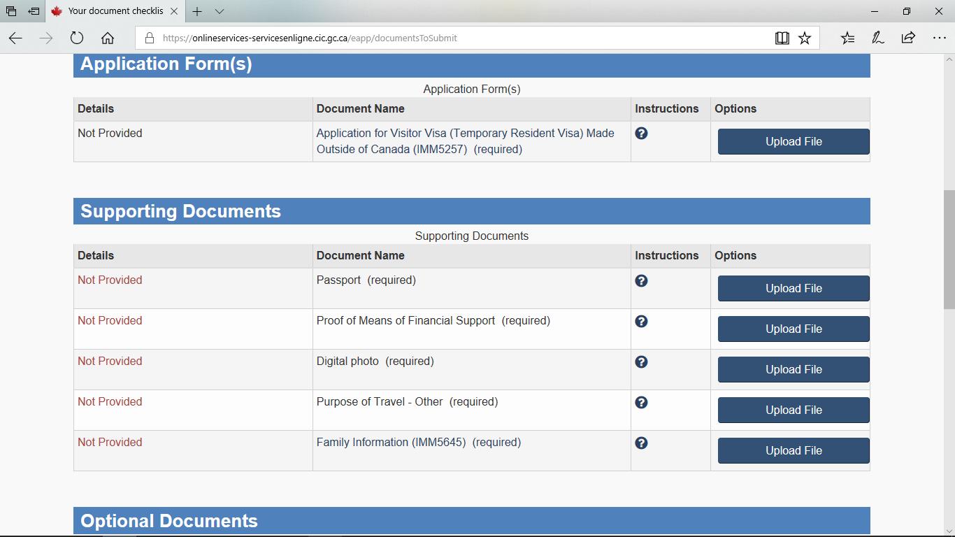 درخواست ویزای توریستی کانادا آنلاین