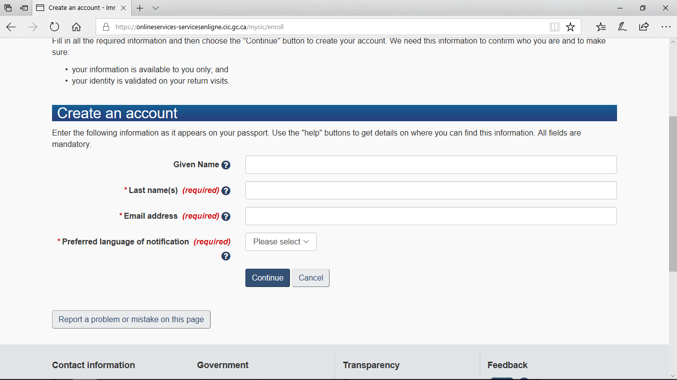 مراحل ثبت نام آنلاین ویزای توریستی کانادا